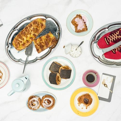 ヒュンメルは、Danish Pastryからインスパイアされたmita sneakersとのコラボレートモデルMARATHONA OGを発売