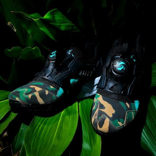 """プーマは、闇夜のジャングルを表現したatmosとのコラボモデルDISC BLAZE """"NIGHT JUNGLE""""を発売"""