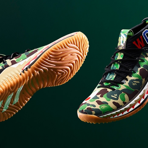 アディダス バスケットボールとA BATHING APE®のコラボレーション、adidas Basketball by BAPE® DAME 4が登場