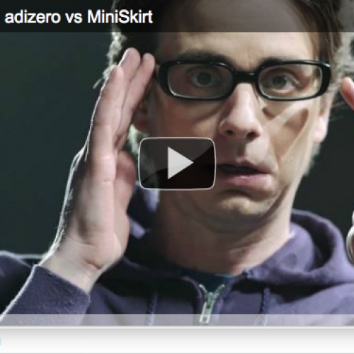 VIDEO: adizero LAB : adizero vs MiniSkirt