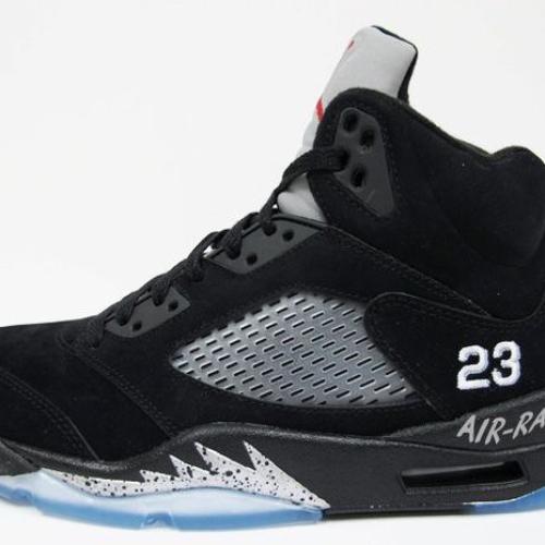 Nike Air Jordan 5 Retro Black Metallic Silver