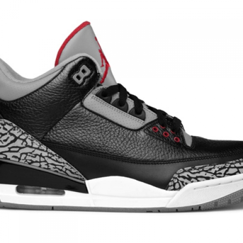 NIKE AIR JORDAN 3 RETRO BLACK/VARSITY RED-CEMENT GREY 先行予約開始
