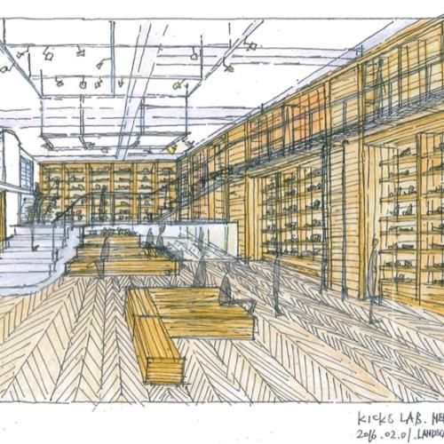 日本を代表するスニーカーショップの一つ、KICKS LAB.の新店舗が東京・原宿にオープン