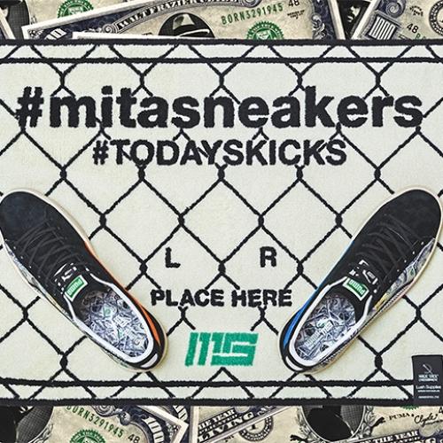 """プーマは、オリジナルのドル札紙幣をプリントしたmita sneakersとのコラボレーションモデルCLYDE """"mita sneakers""""を発売"""