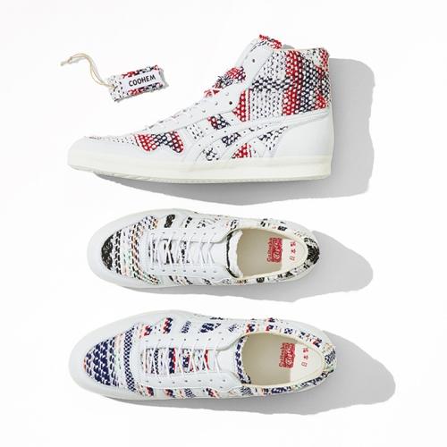 オニツカタイガーから、特有の編み物技術とデザイン性で海外から高い評価を得ているCOOHEMとコラボレーションしたシューズを発売