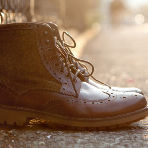 Harris Tweed x Clarks 2012 Fall/Winter Montacute Lord