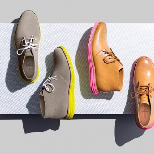 Cole Haan LunarGrand Chukka Pink & Yellow's