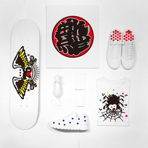 "「sneakerwolf」初となる個展 ""Everything can be canvas"" が「WHIZ LIMITED」のヘッドショップ「LUMP TOKYO」にて開催。"