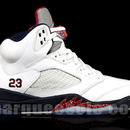 Nike Air Jordan V 5 – White – Varsity Red – Midnight Navy