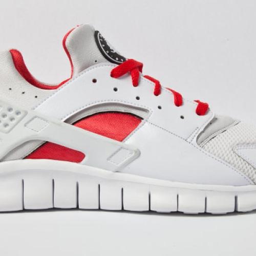NIKE HUARACHE FREE RED/WHITE