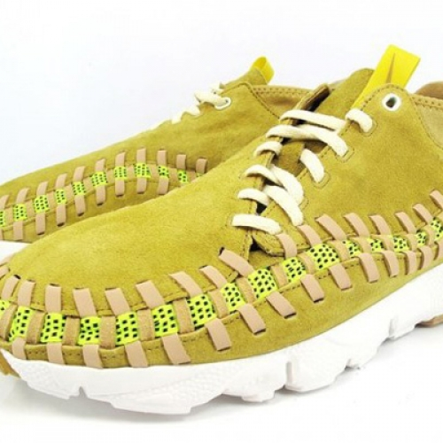 Nike Air Footscape Woven Chukka Yellow Suede/Gum