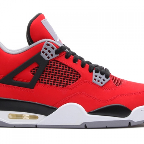 NIKE AIR JORDAN 4 RETRO FIRE RED/WHITE-BLACK-CEMENT GREY