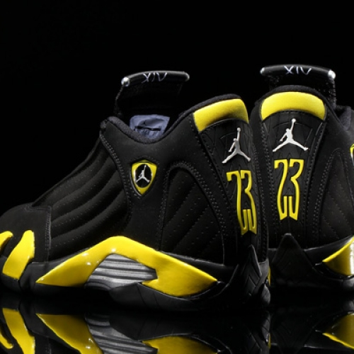 NIKE AIR JORDAN 14 RETRO BLACK/VIBRANT YELLOW-WHITE
