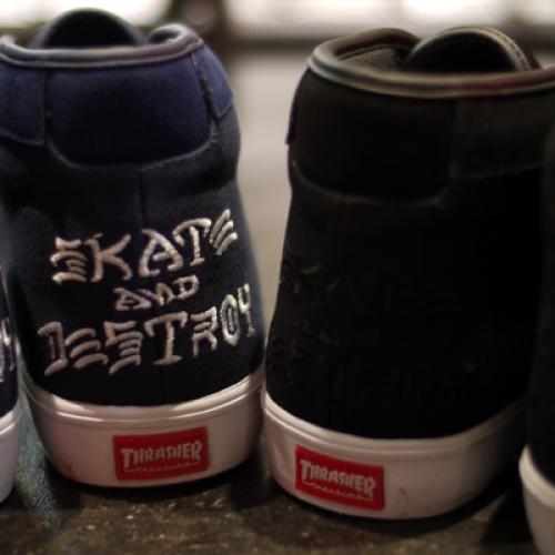CLUCT x mita sneakers x THRASHER ROCKAWAY