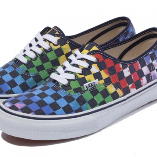 XLARGE® x VANS AUTHENTIC TIE-DYE CHECKER FLAG